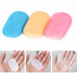 Image 3 - Travel portable disinfectant soap paper 20pcs disposable convenient hand sanitizer soap tablets mini clean soap tablets