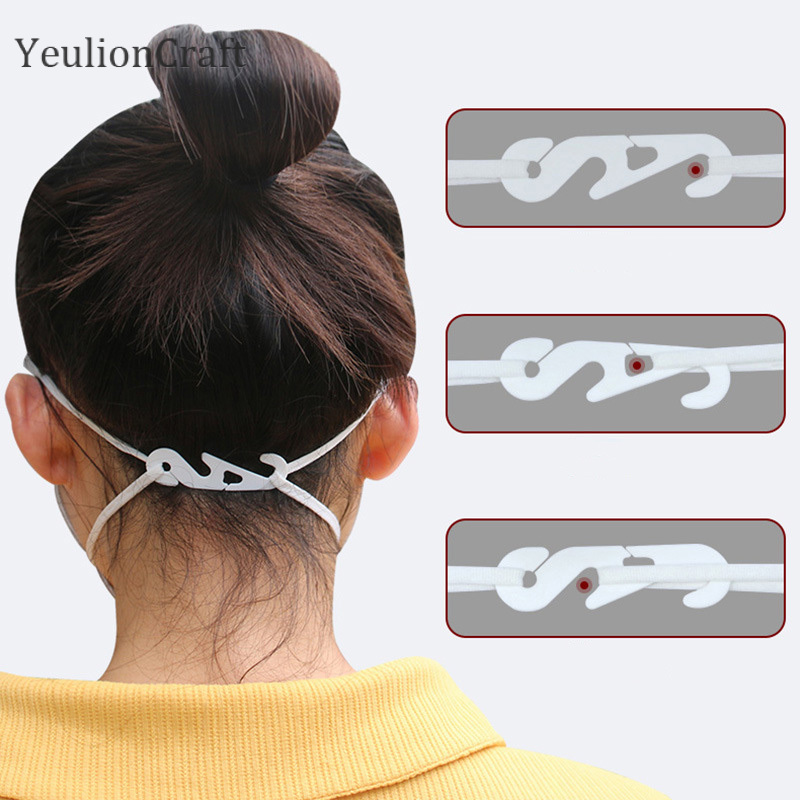 YeulionCraft 20Pcs/lot S Shaped Extended Adjustable Ear Protectors For Wearing Masks DIY Handmade Crafts