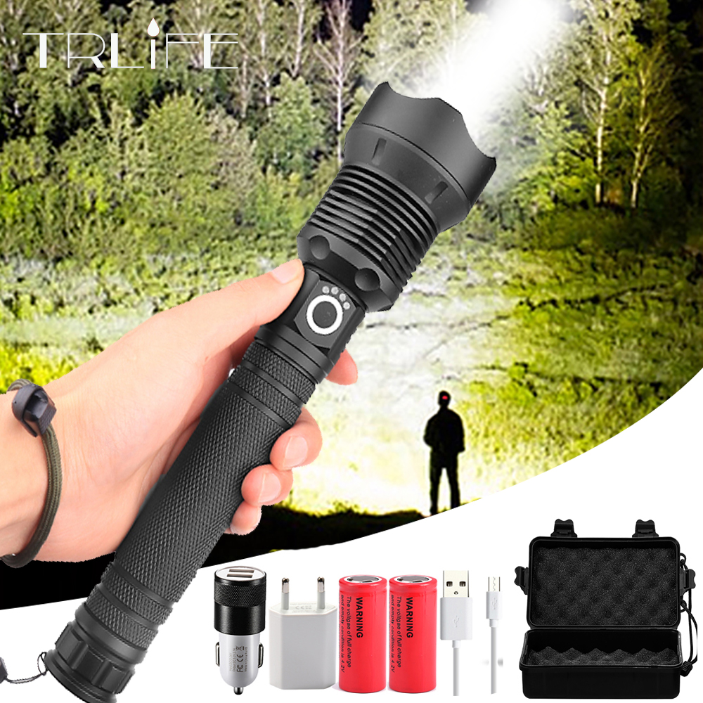 90000LM XLamp XHP70.2 Most Powerful LED Flashlight XHP50 Rechargeable USB Zoom Torch XHP70 18650 26650 Hunting Lamp SelfDefense