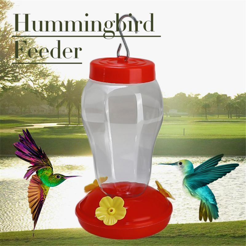 Glass Bird Water Feeder Tree Hummingbird Hanging Outdoor Wild Garden Yard Tool