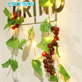Светодиодный светильник ing Рождественский Сад домашний Декор DIY виноградный струнный светильник 2 метра 20 светодиодный s на батарейках вече...