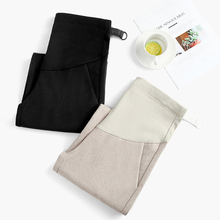 Spring Adjustable Belt Maternity Pants Causal Nine Trousers for Pregnant Women Comfortable Pregnancy Wear Clothing