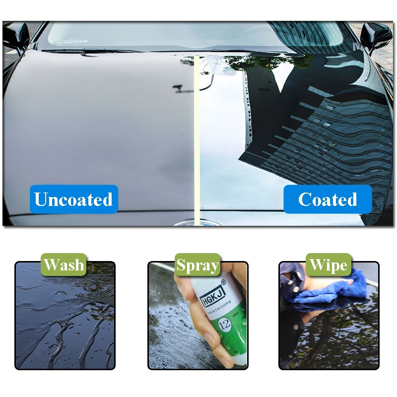HGKJ-12 20ML Car Care Repair Agent Hydrophobic Coating Waterproof Coating Cleaning Glass Car Window Cleaner Car Accessories