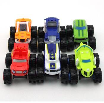 Máquinas Monstere, coches de juguete, camión triturador milagroso ruso, figuras de vehículos Blazed para niños, regalos de cumpleaños, juguetes de chico Blazer
