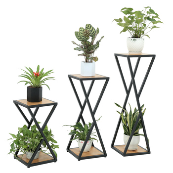 Flower stand wrought iron multi-layered simple modern living room floor flower pot stand indoor balcony green chrysanthemum plan