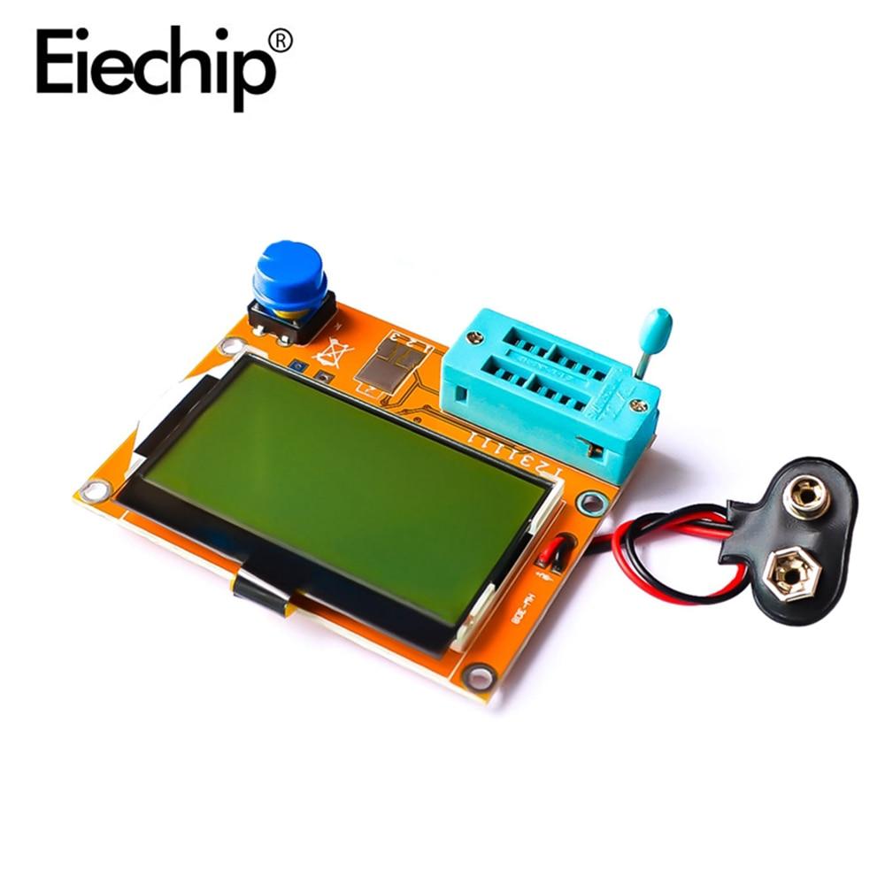 LCR-T4 ESR Meter LCD Digital Display 12864 Transistor Tester Diode Capacitance Mos Mega328 Tester For Arduino 128x64 LCD Screen