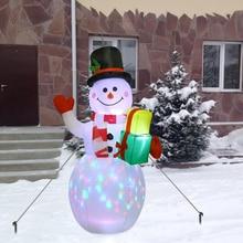 Doll Christmas-Decorations Led-Night-Light Snowman Garden-Toys Party 150cm Figure Eu-Plug