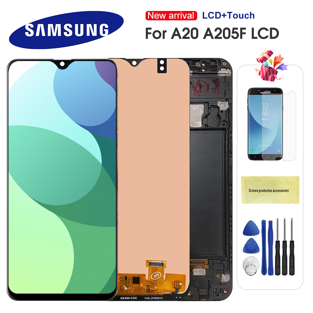 For Samsung Galaxy A20 A205 SM-A205F LCD Display Touch Screen Digitizer Replacement For Samsung A20 A205 A205F Display Screen