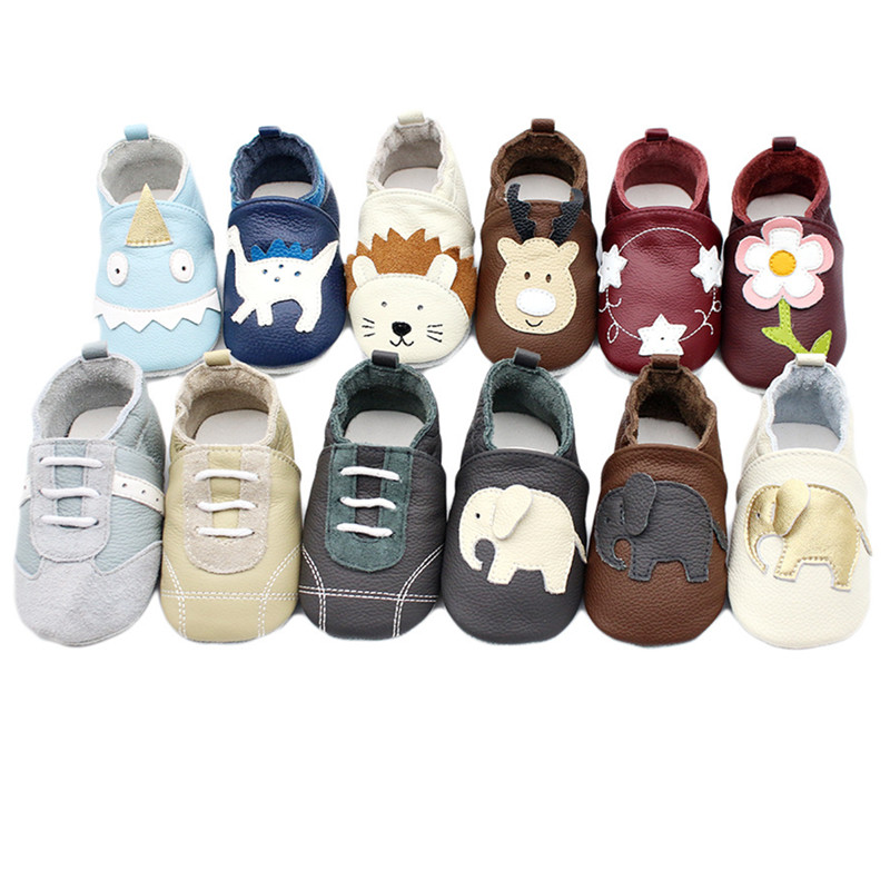 Baby Soft Genuine Leather Shoes Baby Boy Girl Infant Shoe Slippers New Style First Walkers Leather Skid-Proof Kids Shoes