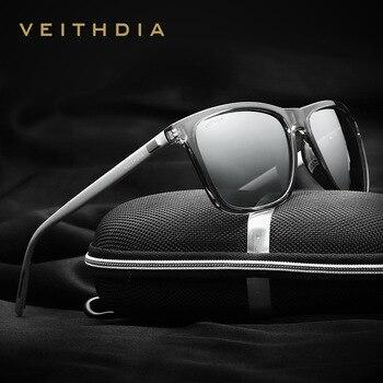 VEITHDIA Sunglasses Polarized Lens Brand Sunglasses Men Women Vintage Sun Glasses Eyewear gafas oculos de sol masculino 6108 veithdia polarized sunglasses men new arrival brand designer sun glasses with original box gafas oculos de sol masculino 6589