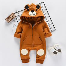 2019 Brand New Autumn Winter Warm Clothes Baby Rompers Cute