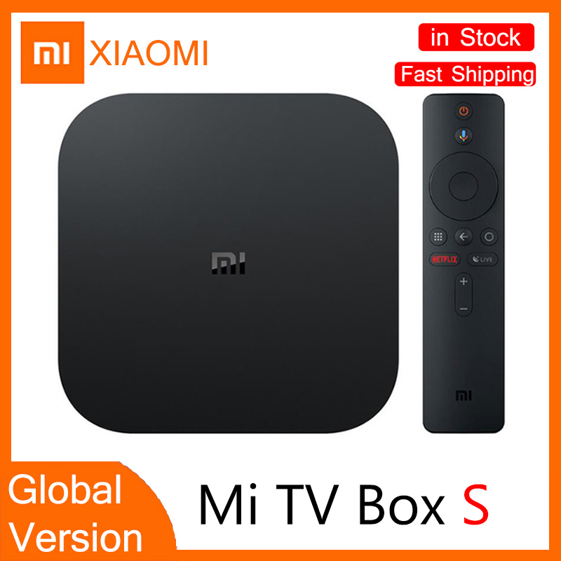 TV SetTop Box Global Vision XIAOMI Mi Box S 4K HDR Android TV 8 1 2G 8G WiFi Connection Netflix Google TV Box Stick Media Player
