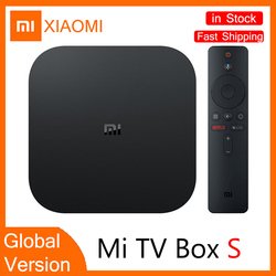TV Settop-box Globale Version XIAOMI Mi Box S 4K HDR Android TV 8,1 2G 8G WiFi verbindung Netflix Google TV Box Stick Media Player