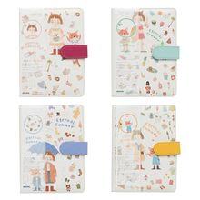 A5 Cute Cartoon Notebook Leather Diary Journal Planner Travelers Agenda U1JA