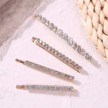 2019 Shiny Rhinestone crystal  Trendy Word folder Barrettes ZA Hairpins For women jewelry Hair Clips Hairstyle Design Styling