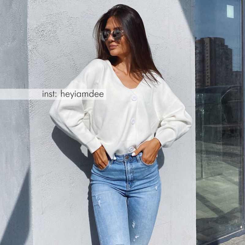 GIGOGOU Knit Sweater Women Autumn 2020 Female Casual Long Sleeve Button Cardigan Knitted Sweaters Coat Femme Winter Warm Clothes