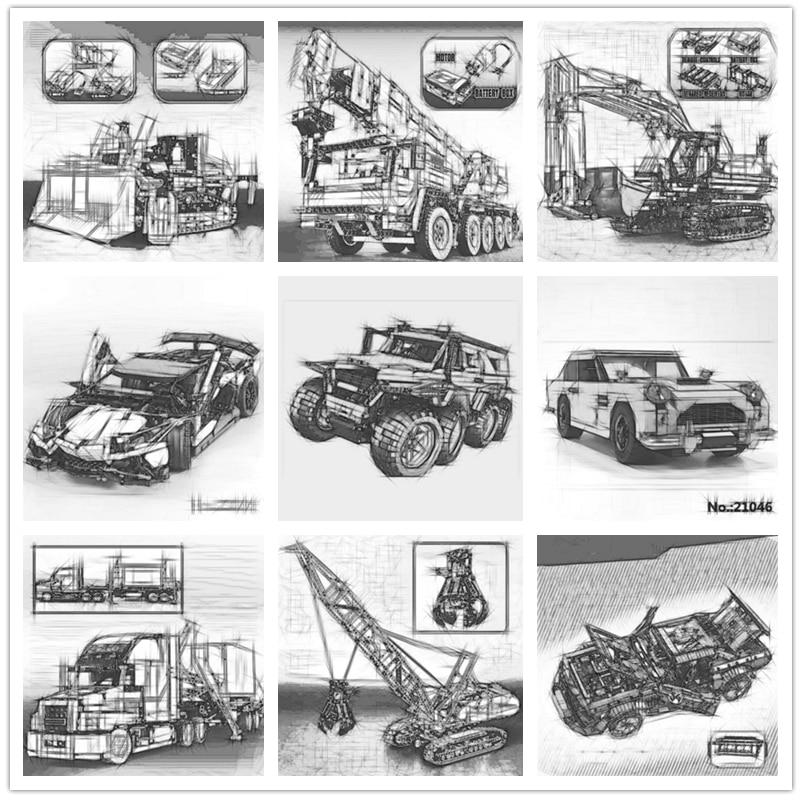 IN STOCK 20001 20004 20005 20007  20056 20086 3368 3388 21001 21047 23011 23006 23002 20015 21046 Car Model Building Block Toys