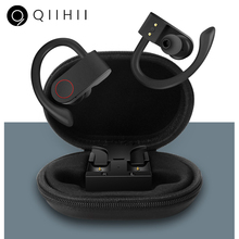 QIIHII Wireless Earphones With Microphone Bluetooth Headphones Earbuds IPX7 Waterproof Headphone Gaming Headset
