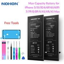 Nohon максимальная емкость батареи для iphone 7 батарея замена