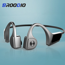 цена на Bone Conduction Wireless Bluetooth Headsets TWS Earphone Outdoor Sport Headset Noise Canceling Headphone Handsfree With MIC