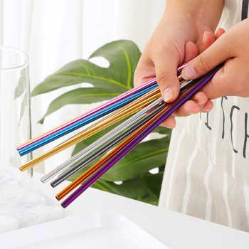 100PCS Reusable Stainless Steel Straw + 10 Cleaner Brush Blue Plating Metal Drinking Straws Barware Wedding Party Drinking Straw