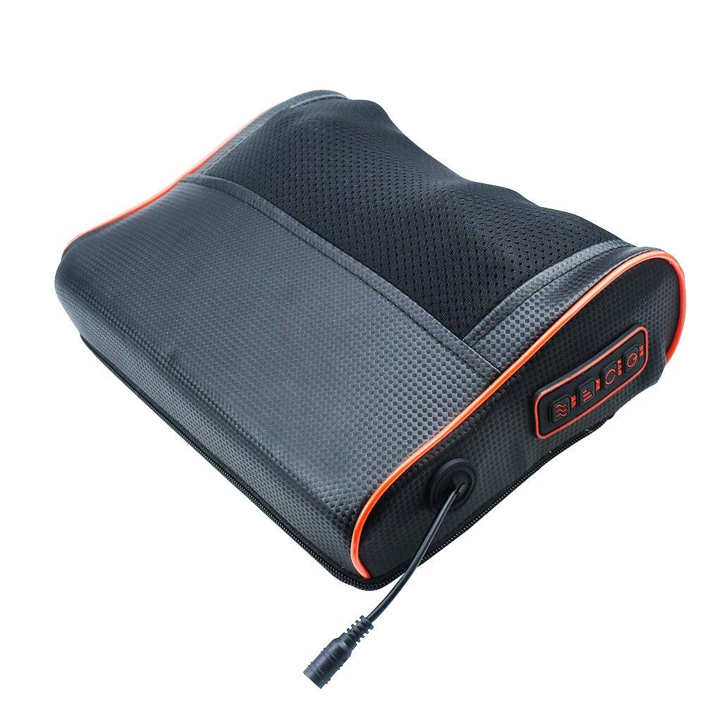 Электрическая массажная подушка инфракрасное Отопление шеи плеча тела Шиацу Массажер устройство шейного здорового массажа и релаксации|Массаж Подушка|   | АлиЭкспресс