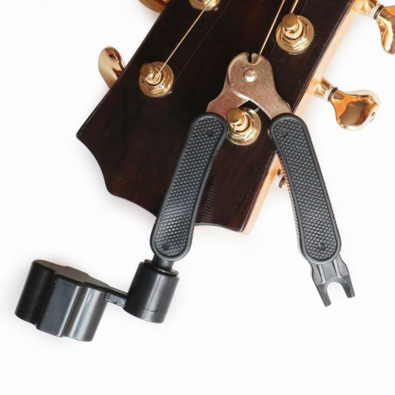 3 In 1  Black Multifunctional Guitar Winder String Pin Puller Stringer Clipper Guitar Tool Guitar  Ccessories C  Hot