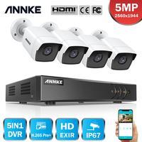 ANNKE 8CH 5MP Lite Video Überwachung Kameras System 5IN1 H.265 + DVR Mit 4PCS 5MP Kugel Wetter Sicherheit Kameras CCTV Kit