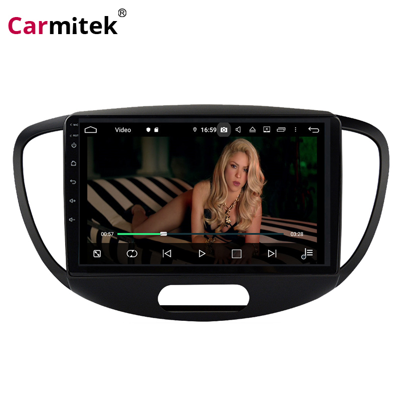 Carmitek 9'' touch screen 2 Din Android Car Radio Multimedia Player For <font><b>Hyundai</b></font> <font><b>Grand</b></font> <font><b>I10</b></font> 2008-2012 Audio Video <font><b>GPS</b></font> Navigation image