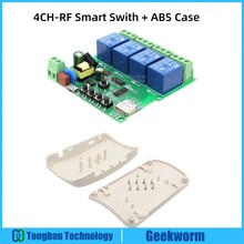 DIY 4 Channel Relay Jog Wifi Wireless Smart Home Switch with High Quality ABS Case,4 Channel Wifi Switch/ 3 Model 4 Relay 433Mhz