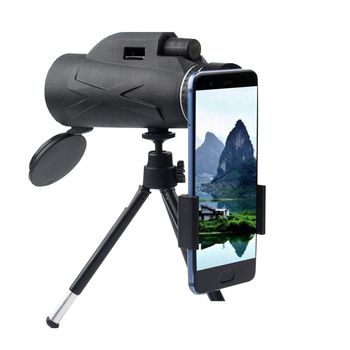 цена на HD BAK4 80X100  Monocular Zoom Portable Prism Optical Telescope Phone Clip Tripod Hunting Camping Spotting