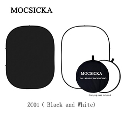 MOCSICKA Black and White Double Sides Photo Booth Backdrop Matte Panel Photography Collapsible Background