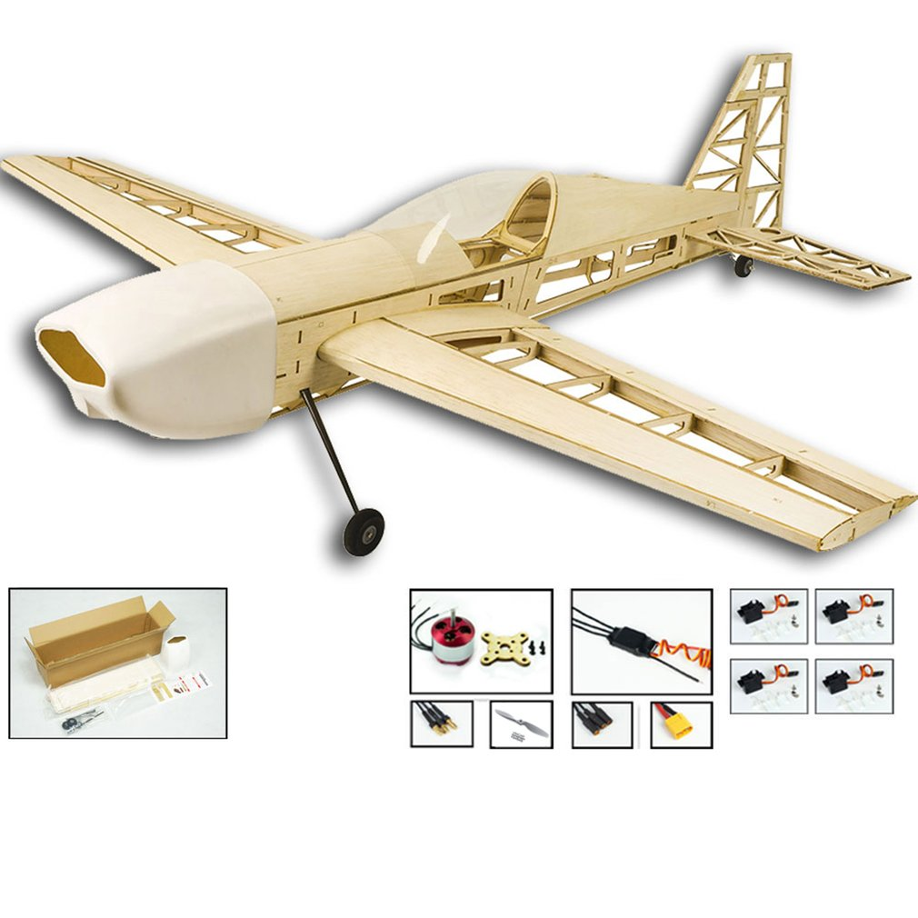 EP EX330 Balsa Wood Training Plane 1.0M Wingspan Biplane RC Airplane Aircraft Model Toys DIY KIT/PNP for Kid image
