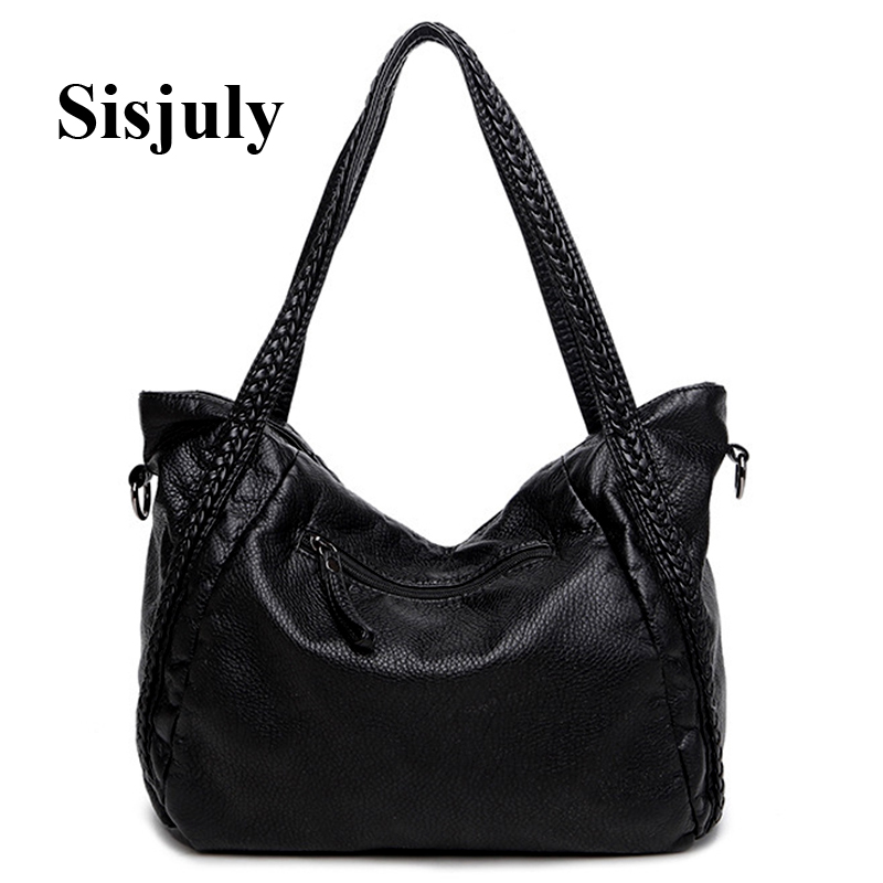 Sisjuly 2019 Leather Bag Women Handbags Soft Female Bag Crossbody For Women's Shoulder Bags Ladies Casual Tote Hobo Sac A Maine
