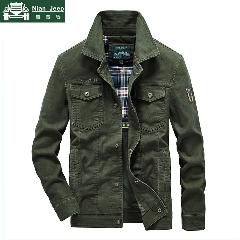 Plus Size 7XL 8XL Military Jacket Men Quality Cotton Spring Autumn Mens Jackets Multi-pockets Casual Coats Male Chaquetas Hombre 1