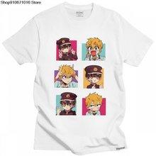 Мужская футболка hanako kun в стиле унитаза 100% хлопок jibaku