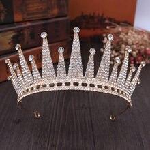 2020 barroco do vintage rainha rei luxuoso cristal casamento coroa tiaras nupcial e coroas diadema noiva cabelo jóias acessórios