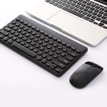 2.4G USB Wireless Gaming Keyboard Mouse Combo Round Button Keyboard Silent Mouse For Macbook Lenovo Dell Asus HP Laptop Computer