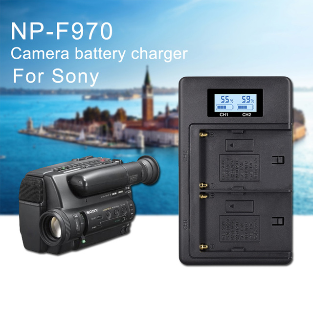 PALO Dual Channel Caricabatteria Kit per SONY NP F550 FM50 FM500H F970 F960 F770 F750 F570 FX1000E BC V615, BC V615A Batterie