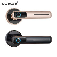 Obawa Smart Fingerprint Door Lock Security Intelligent Electronic Lock With Key USB Charging Indoor lock For Home Hotel Office