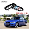 1 paar F30 M farbe Frontschürze Grille für BMW 3 Serie F31 ABS 2-lamellen Niere Racing Grill 320i 328i 335i 2012 + Styling Teile