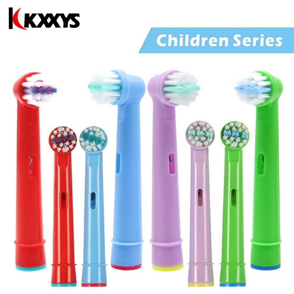 4/6pcs Replacement Kids Children Tooth Brush Heads For Oral B EB-10A Electric Toothbrush Fit Advance Power/Pro Health/Triumph image