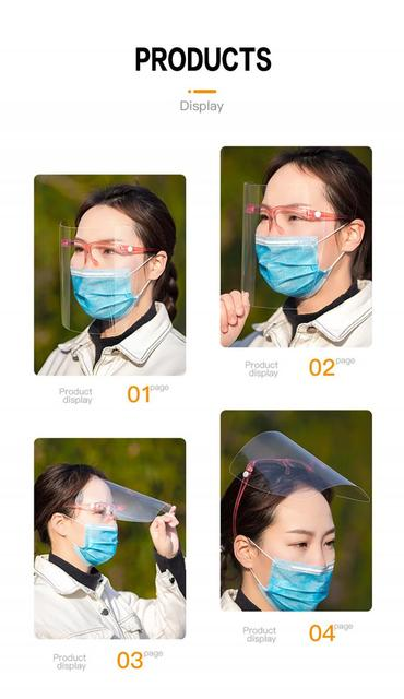 transparent mask Safety Kitchen Cooking Anti-Oil Splash Clear Face Cover Mask Protector Kitchen Accessories Random Color 3
