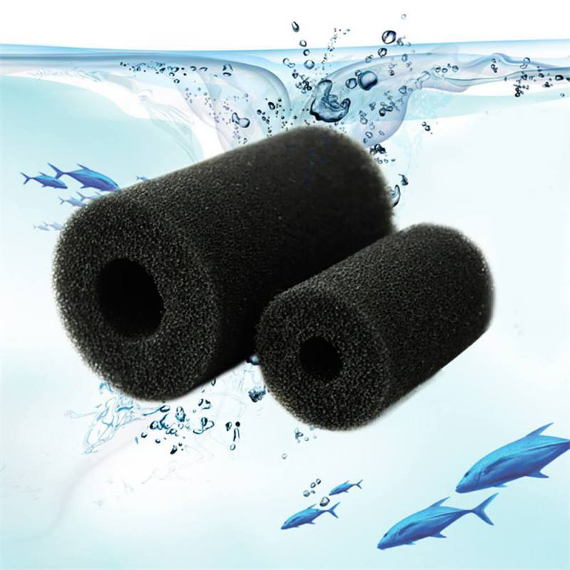 5Pcs Sponge Aquarium Filter For Fish Tank Inlet Pond Black Foam Aquario Filters Protector Cove Accessories