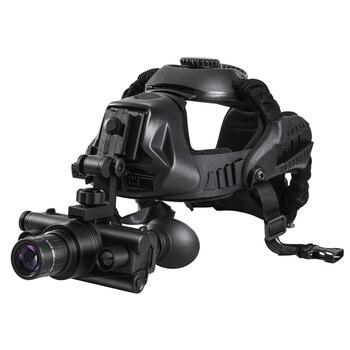 Lentes de visión nocturna Digital HD táctico Gen 2 + casco, visión nocturna infrarroja profesional montada, 1 equipo de caza para exteriores