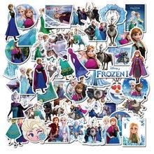 50 pçs bonito elsa princesa etiqueta à prova ddiy água diy graffiti engraçado misto crianças decoração de brinquedo mala notebook skate