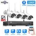 Hiseeu 8CH Беспроводной CCTV Системы 1080P 1 ТБ 4 шт. 2MP NVR POE IP IR-CUT наружного видеонаблюдения Камера IP безопасность Системы системы видеонаблюдения