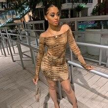 Kliou 2019 estampado de cocodrilo slash neck sexy bodysuit falda 2 piezas conjunto Otoño Invierno mujeres streetwear trajes chándal Delgado