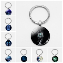 Rainbow Six Siege Nymph Nordic Wiccan Murano Glass Wolf Cabochon Key Chain  Luxury Keychain Shopkins