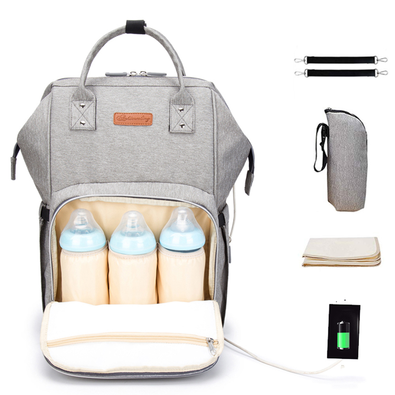 Large Maternity Mummy Diaper Bag Backpack With Usb Waterproof Baby Bags For Mom Mother Nursing Stroller Nappy Changing Bag